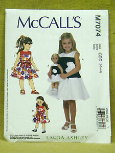 249fcd88383b Details about MCCALLS PATTERN 7074 DRESSES LAURA ASHLEY GIRLS SIZES 2 3 4 5  18