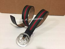 Authentic Gucci Men's Black/green/Red Belt Size 105cm  Waist 36-38