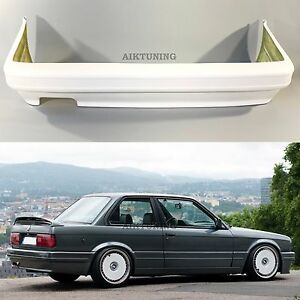 bmw e30 rear m tech 2 m technik style bumper spoiler full. Black Bedroom Furniture Sets. Home Design Ideas