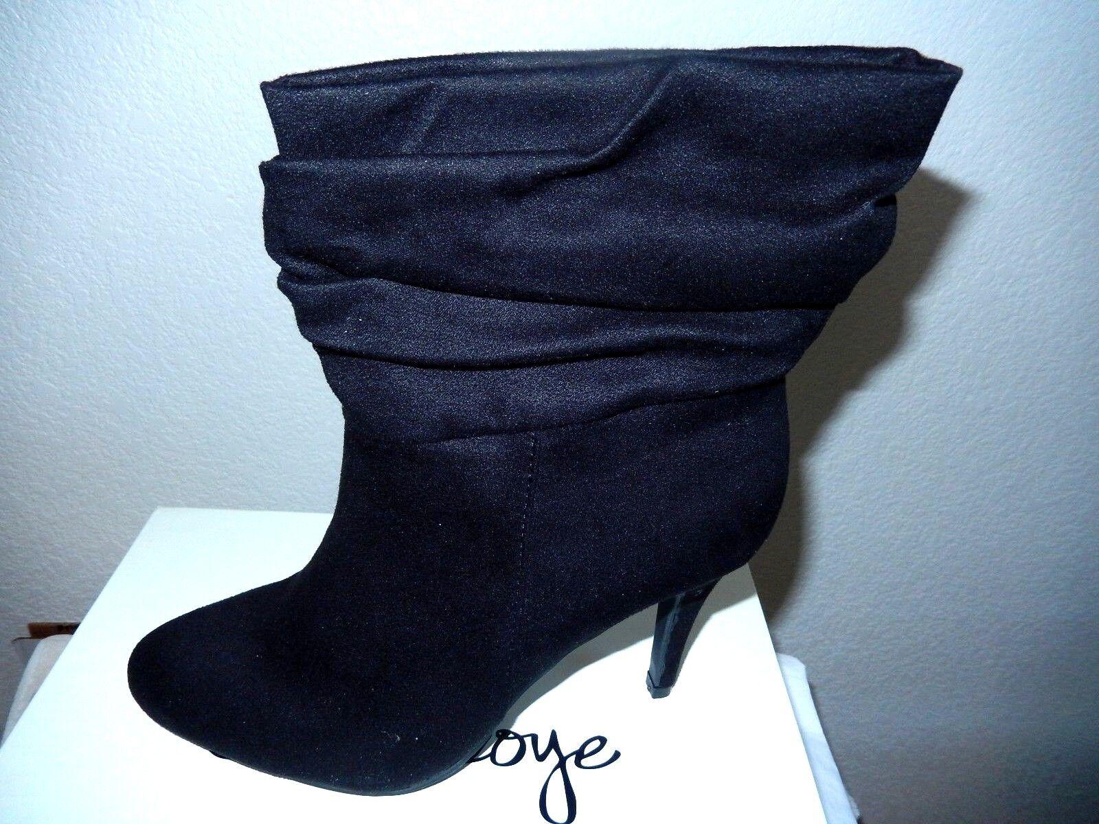 Olsenboye Destiny Fashion Boots-9.5M, black-Soft faux suede,stylish cuff   80