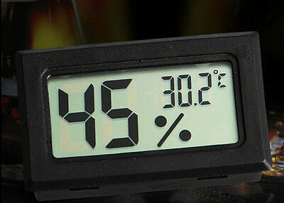 AC DI For Indoor Outdoor Digital LCD Humidity Temperature Thermometer Meter
