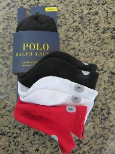 350728194c Polo RALPH LAUREN Athletic Reflector Quarter Socks 3 Pack Running ...