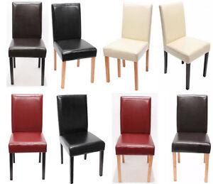 4x Esszimmerstühle Leder Set Esszimmerstuhl Lehnstuhl Stuhlset