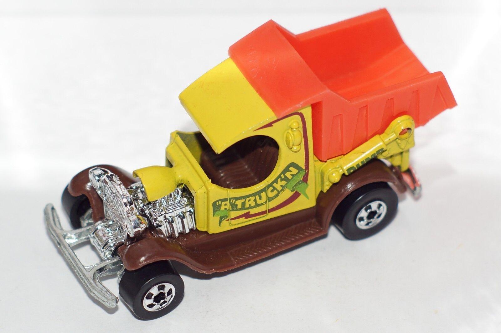 Hot Wheels Antiguo Original pero Golosinas-Dumpin 'a-Amarillo-Bws-base De Metal