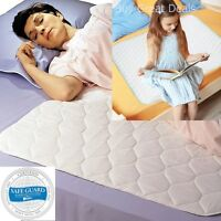 Bed Waterproof Sheet Protector Pad Mattress Cover Absorbs Wetting Sleeper -