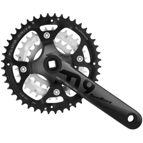 175mm 9f SUNRACE Kurbel FCM914 44-32-22Z schwarz grau Fahrrad