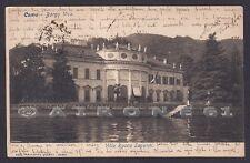 COMO CITTÀ 123 BORGOVICO - VILLA ROCCA SAPORITI - LAGO Cartolina viaggiata 1905