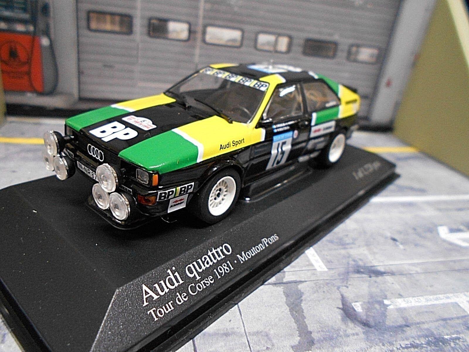 AUDI QUATTRO RALLYE TOUR DE CORSE 1981  15 Mouton Pons BP Taille 4 MINICHAMPS 1 43