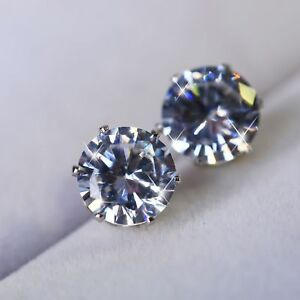Charm-Women-925-Silver-Crystal-Round-Zircon-Inlaid-Ear-Stud-Earrings-Jewelry