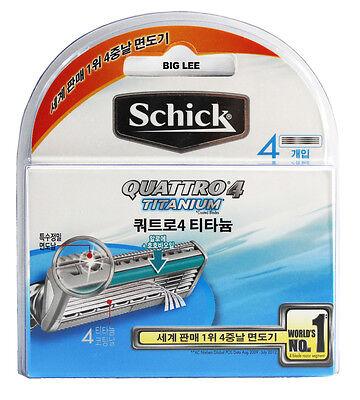 Schick Quattro 4 Titanium Blades 4 Cartridges Refills BRAND NEW SEALED