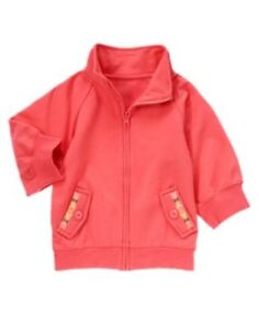 Gymboree friendship camp coral styled knit fleece jacket 5 6 7 8 10 12