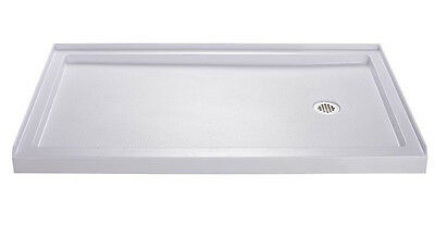 "DREAMLINE 60"" x 36"" SLIMLINE DLT-1136602 RIGHT SINGLE THRESHOLD SHOWER BASE"