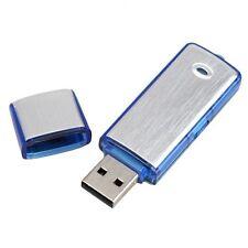 New Silver Mini 4GB USB Memory Spy Pen Flash Driver Voice Sound Recorder