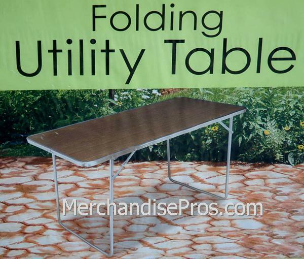 PORTABLE TAILGATING UTILITY TABLE STEEL LEGS & FRAME 48  LONG  LIGHTWEIGHT NEW