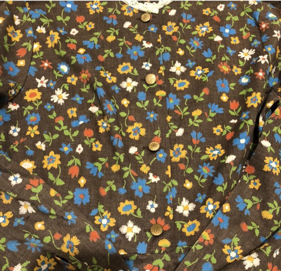 GUC Vintage Cottagecore Fairycore Floral Prairie … - image 3