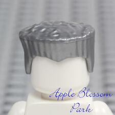 NEW Lego Minifig Flat Top SILVER HAIR - Ninjago Boy Zane Crew Cut Gray Head Gear