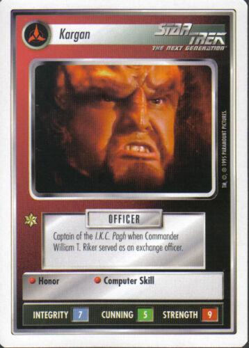 STAR TREK CCG WHITE BORDER PREMIERE 1995 BETA RARE CARD KARGAN
