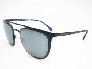 5a0f51c20 Authentic Emporio Armani EA 2069 3014/55 Matte Black w/Blue Mirror ...