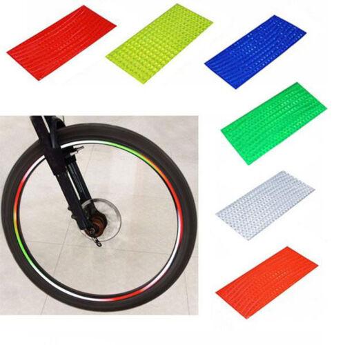 Fluorescent MTB Bike Cycling Wheel Rim Reflective Stickers Tape 6 Colors