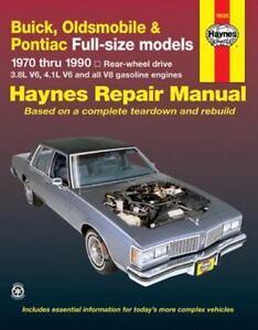 haynes repair manual buick oldsmobile and pontiac full size models rh ebay com Buick LeSabre Parts Manual 99 Buick LeSabre