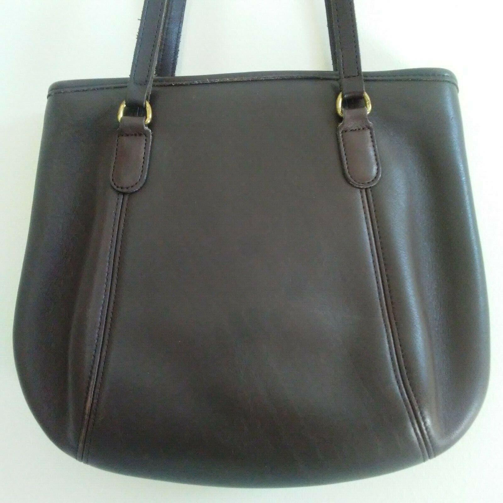 COACH Purse Handbag Leather Shoulder Brown A7C-99… - image 2