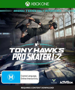 Tony Hawks Pro Skater 1 + 2 Xbox One Game NEW