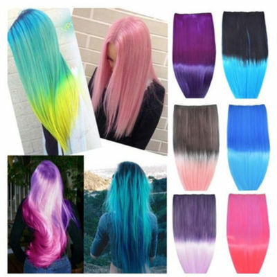 Mult-color Cosplay Synthetic Ombre Wigs Short Straight Bob Hair Heat Resistant D