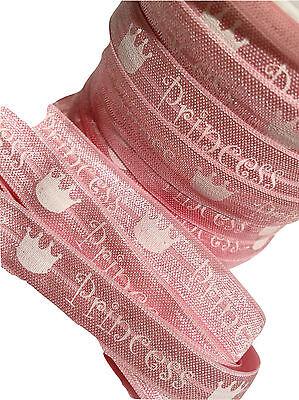 "1 yard Light pink kitty print 5//8/"" fold over elastic FOE"