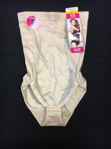 Flexees Shapewear By Maidenform Hi Waist Brief 2654 Firm Control Beige S 13-2