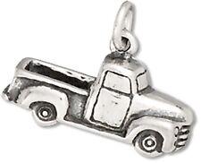 50's Pickup Truck Charm Sterling Silver Pendant 3D Transportation Car Automo