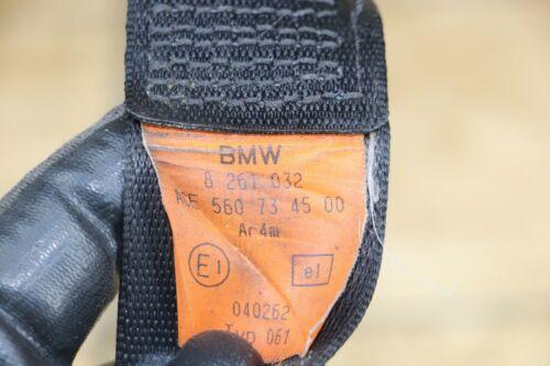 RIGHT OR LEFT SIDE REAR UPPER SEATBELT SEAT BELT OEM BMW E46 CONVERTIBLE BLACK