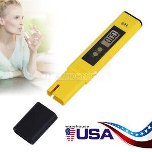 Digital PH Meter Tester Hydroponic Pool Water Aquarium Pocket Portable Wine