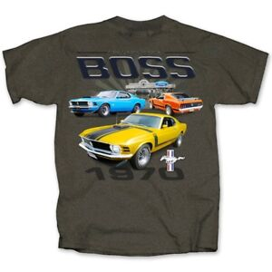 Ford-Mustang-Boss-1970-CHARCOAL-HEATHER-Adult-T-shirt