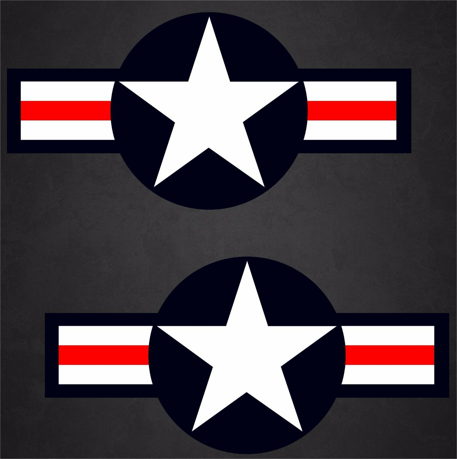 2 - 13 x26.5  USAF Aircraft Insignia Sticker Military Decal Air Force Pilot Vet