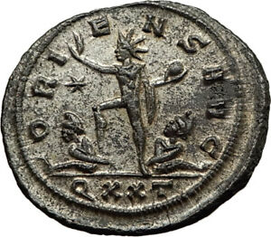AURELIAN-Original-274AD-Ticinum-Authentic-Genuine-Ancient-Roman-Coin-SOL-i65432