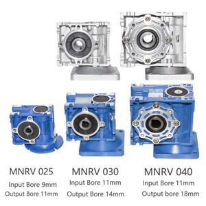 Details about Right Angle Gearbox Geared Speed Reducer RV025 030 040  Gearbox Head 1/5~1/100