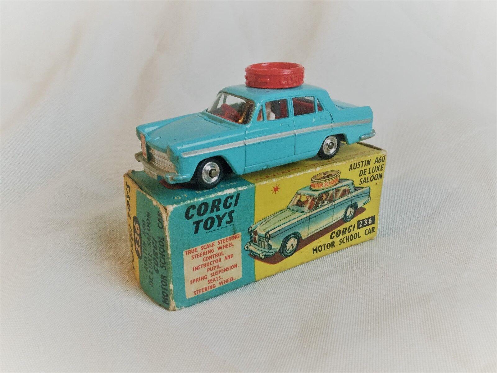 Corgi Toys no. 236 Austin A.60 De Luxe Saloon Motor School Car Boxed