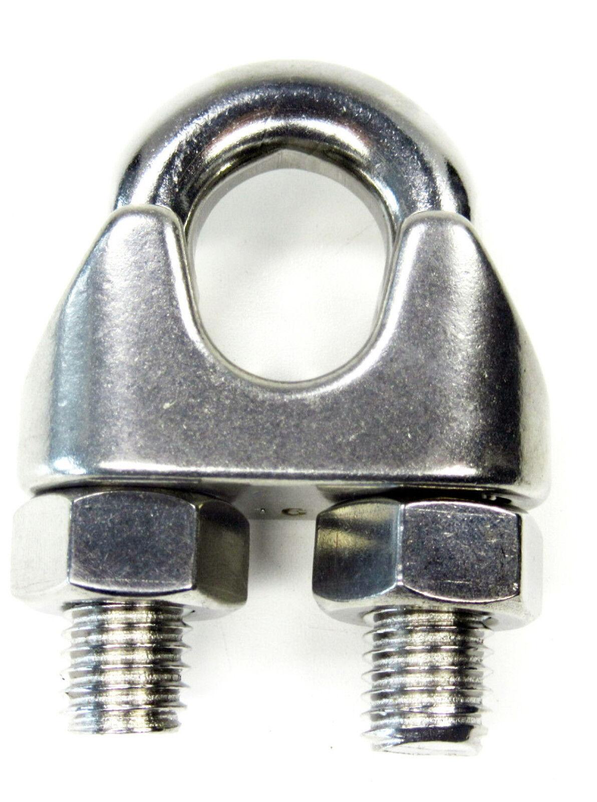 Drahtseilklemmen Drahtseilklemme Seilklemme Edelstahl 2 mm Klemm Inox (933826)