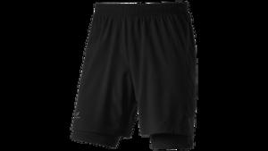 Pro Touch Herren Shorts 2-in-1 Allen III kurze Hose Runningshorts Schwarz Neu