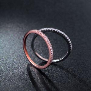 Schmaler-Damen-Ring-Half-Eternity-echt-Sterlingsilber-925-Zirkonia-43-64-duenn