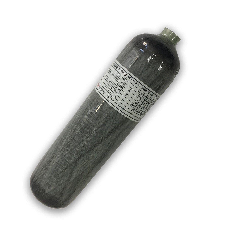 4500psi 3 L ce en fibre de carbone Cylindre Réservoir Air Bouteille Fill Station PCP paintball