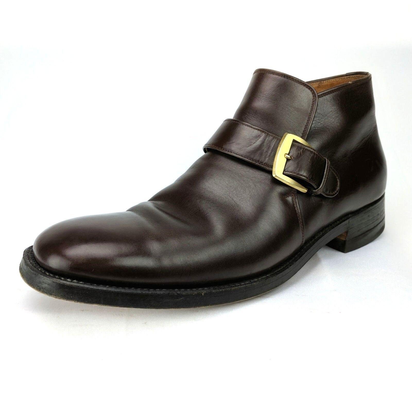 Vintage Kow Hoo zapatos Co. Bespoke Monje Correa de tobillo bota de vestir para hombre D