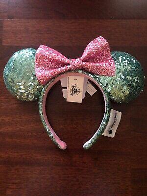 New Disney Parks Sugar Rush Mint Green Pink Glitter Minnie Sequin Ears Headband