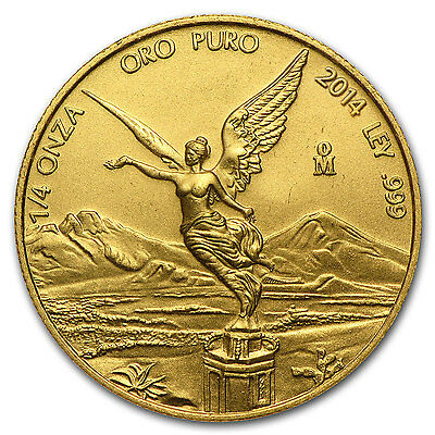 2014 1/4 oz Gold Mexican Libertad Coin - Brilliant Uncirculated - SKU #80925