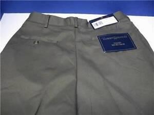 TOMMY HILFIGER MICRO TECH DRESS PANTS FLAT FRONT 30X32 GREEN lightweight trouser