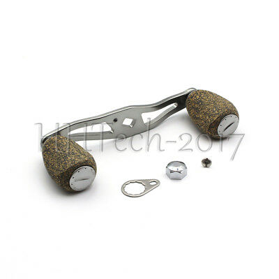 Low Profile Baitcasting Reel Handle with Rubber Cork Knobs for Daiwa Abu Garcia