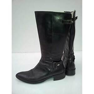 Das Bild wird geladen Italienische-Damen-Stiefel-Gr-38-schwarz -Reiterstiefel-Lederstiefel 79a581a804