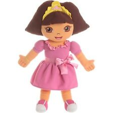 """Licensed Dora the Explorer 24"""" Cuddle Pillow with Crown and Pink Dress with Bow"""