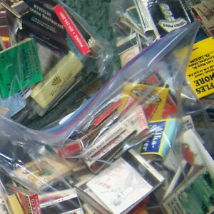Fun-Lot-40-Mixed-Vintage-Matchbooks-Variety-Of-Interesting-Mostly-Full-Various