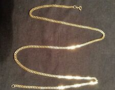 """18K Solid Yellow Gold Cuban Curb Link Chain Necklace 20"""" 10.88 Grams"""